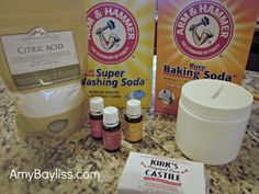Washing Powder Recipe with essential oils