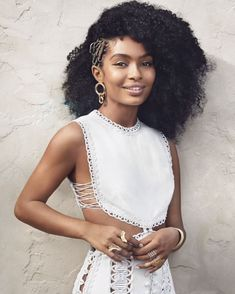 54e1e66bc3 Editorial Yara Shahidi wears our Whitewave Corded Dress from our Spring 18  Ready-to