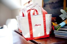 Love the idea of having bags for the bridal party.