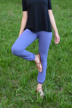 """These are a cross between a ƒ""""relaxedƒ"""" legging and a super stylie pair of pants. The fabric is a stretchy jersey like most leggings, but made from our quality hemp and organic cotton, which gives them that extra texture and support. If you are a little heavier up top than you are around the ankle..."""