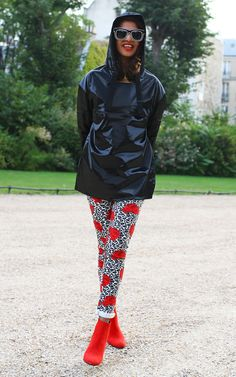 M.I.A. at Paris Fashion Week #ParisFashionWeek #Spring2014 #PFW #StreetStyle