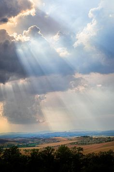 Storm clouds over the Tuscan countryside
