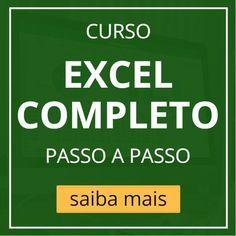 Excel. Curso Grátis de Excel online. Aprenda Excel sem sair de casa. Dicas, vídeos e artigos sobre Excel