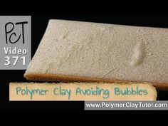Video #371: Learning the tricks of the trade to help avoid getting bubbles trapped in your polymer clay. Your projects will end up looking more professional, and you will feel less like an amateur.  * Trapping air in your polymer clay as you work with it can cause disappointing bubbles to rise to the surface of your finished pieces.  * Avoid usi...