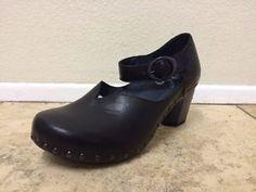 462c4d4b403 New Rare Women Dankso Neci Mary Jane 38 7 5 8 thea Black heel clog amazing  155
