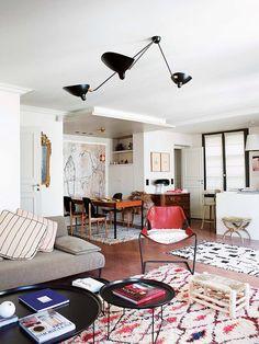 bohemian modern paris apartment. / sfgirlbybay