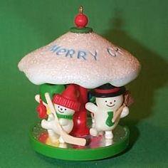 1982 Carousel #5 - Snowman Hallmark Ornament $105.