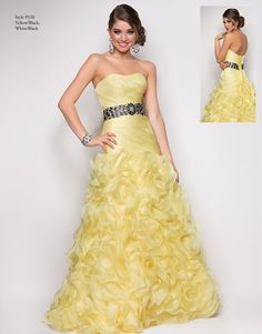 Lovely yellow ball gown from Blush Prom