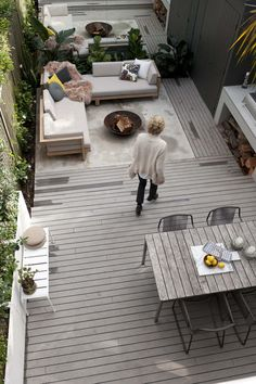 like the mix of concrete & wood deck - can we afford a fire pit?