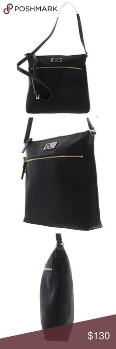 Kate Spade Keisha Blake Avenue Crossbody Bag NWOT, Never used or worn Kate spade crossbody. Tag fell off, but never used and still has wrapping on zipper. Color/material: black; 100% nylon Interior design detail: zippered pocket and 2- slide pockets Measures 10in wide x 10.5in high x 2.5in deep Adjustable strap drops 18-22in Zip closure kate spade Bags Crossbody Bags