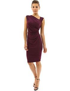 PattyBoutik Women's Asymmetrical Neck Pleated Sheath Dress (Dark Purple M) PattyBoutik http://www.amazon.com/dp/B00G8ZLZIC/ref=cm_sw_r_pi_dp_DikEwb1J8G28K