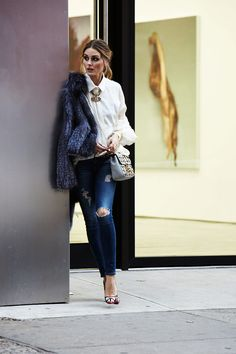 Olivia Palermo - lover her style Style Work, Mode Style, Her Style, Fashion Mode, Look Fashion, Winter Fashion, Fashion Trends, Fashion Styles, Womens Fashion