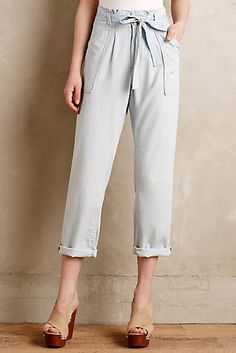Current/Elliott Chambray Paperbag Trousers