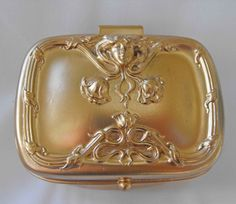 Antique Jewelry Casket, Image of Lady's Face, Signed, Restored, ca 1930s