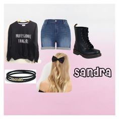 """""""Sandra"""" by readerwrite246 on Polyvore featuring Melissa McCarthy Seven7, Dr. Martens, New Look and David Yurman"""