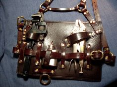 Curated Steampunk and Dieselpunk Gear - MadBurner Steampunk Mechanic, Steampunk Belt, Steampunk Cosplay, Steampunk Fashion, Steampunk Gadgets, Steampunk Accessories, Diy Accessories, Tool Belt, Dnd Characters
