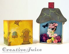 Secret Garden Fairy Shadowbox Tutorial with Stampendous and Eileen Hull Sizzix Dies by Lisa Hoel
