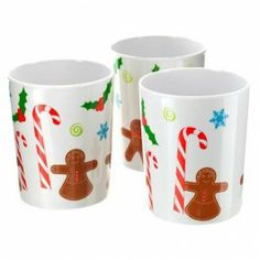 Christmas Plastic Tumblers 4 Pack - Christmas Tableware - Christmas -- got these for the boys already, and cant wait to use them =) Christmas Drinks, Christmas Items, Christmas Goodies, Kids Christmas, Xmas, Plum Drink, Plastic Tumblers, Just In Case, Gingerbread