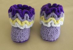 Mustt buy pattern! Crochet ruffle baby booties PATTERN by alinapatterns on Etsy, $3.99