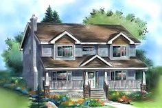Traditional Exterior - Front Elevation Plan #18-286 - Houseplans.com