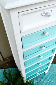 Maison Blanche Colette & Magnolia: Ombre Painted Furniture Dresser Makeover