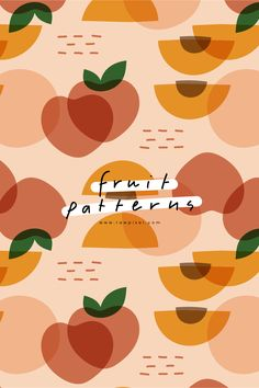 Abstract Pattern, Pattern Art, Print Patterns, Branding Design, Packaging Design, Fruit Packaging, Posca Art, Peach Fruit, Pattern Illustration