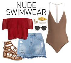 """Nude Swimwear"" by gabyvetancourt ❤ liked on Polyvore featuring Jade Swim, Hush Puppies, Steve J & Yoni P, Keepsake the Label, Fendi, Bling Jewelry and Humble Chic"