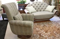 Aico/Michael Amini Settee & Accent Chair - Colleen's Classic Consignment, Las Vegas, NV - www.cccfurnishings.com