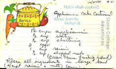 Stone Cottage Adventures: Favorite Family Recipe - Applesauce Cake and Fruit Cake ~ page 2 of 3