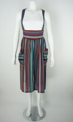 Vintage 1980's Striped Summer Dress size 9/10 by foundationvintage