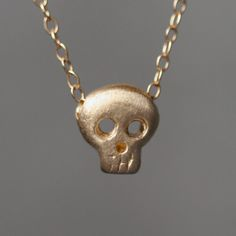 My design inspiration: Baby Skull Necklace 14k Gold on Fab.