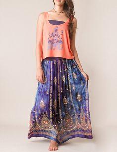 DROOLING over this skirt in blue! Sivana — Tye Dye Jyoti Skirt