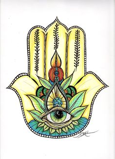 Hamsa  4x6 Postcard Print by DaveLDesigns on Etsy, $12.00
