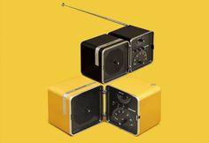 Radio Cubo Brionvega Giallo Sole.  It sounds different.