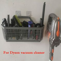 Advertisement - Large Capacity Vacuum Cleaner Storage Basket Punch Free Drying Rack for Dyson Garage Laundry, Laundry Room, Vacuum Cleaner Storage, Cleaning Cupboard, Large Storage Baskets, Gaming Station, Community Organizing, Square, No Equipment Workout