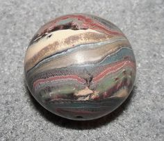 Polymer Clay Jupiter Bead/Planet Bead