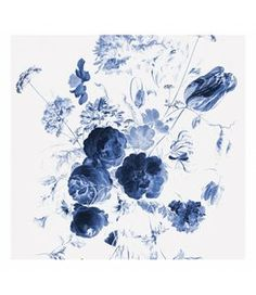 Royal Blue Flowers Matte Paste the Wall Mural KEK Amsterdam Size: x KEK Amsterdam These blue flowers on this mural work very well in any interior. The cut-out is from a famous painting by Jan Davidsz de Heem (Rijksmuseum) and has been edited. Wallpaper Panels, Photo Wallpaper, Of Wallpaper, Pattern Wallpaper, Designer Wallpaper, Royal Blue Flowers, Blue Roses, Amsterdam Wallpaper, Blue Flower Wallpaper