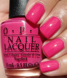 OPI — Mad For Madness Sake (Alice Through the Looking Glass Brights Collection Opi Pink Nail Polish, Cute Nail Polish, Nail Lacquer, Opi Nails, Cute Nails, Pretty Nails, Neutral Nails, Nagel Gel, Halloween Nails