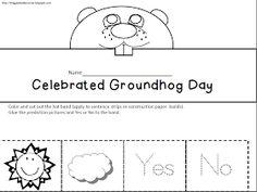 Maggie's Kinder Corner: Do you need a last minute Groundhog Prediction Hat FREEBIE?