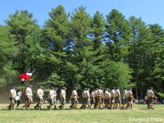 The Sandy Beach staff in the final Sunday Dress Parade of Camp #Yawgoog's 100th anniversary in 2016.  Image by David R. Brierley.