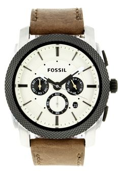 Price:$100.38 #watches Fossil FS4732, Stainless steel case, Leather strap, White chronograph dial, Quartz movement, Scratch-resistant mineral, Water resistant up to 5 ATM - 50 meter - 165 feet