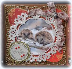 Hoi hoi meiden, leuk dat jullie weer even op mijn blog komen kijken, en dank je wel aan degenen die een reactie achterlieten op mijn laatst... Vintage Christmas, Christmas Cards, Marianne Design Cards, Jan 2017, Kids Birthday Cards, Kids Cards, Handmade Cards, Cardmaking, Inspiration