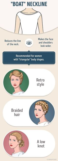 How to Correctly Combine Your Hairstyle and the Neckline on Your Dress