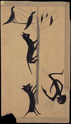 Arbre à chat. / Cat-tree. / By Bill Traylor.