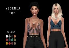 Yesenia Top at Leo Sims • Sims 4 Updates