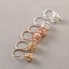 Gold Knot Earrings Knot Jewelry Bridesmaid Gift Tie The