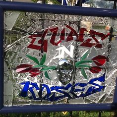 Guns N Roses Stained Glass Mosaic Window by MountainMosaicsmore