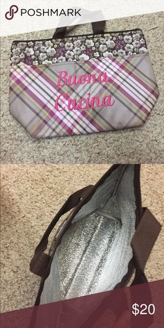 Thermal lunch tote by Thirty-one Thermal lunch tote by Thirty-One. Plaid with pink embroidery. Used a few times.  Liquidating my inventory as I am a former consultant. thirty-one Bags Totes