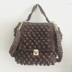 Handmade bubble crochet backpack | tote bubble bag | very light weight purse | Summer Bag | brown color | boho style by 520HaAcBoutique on Etsy Crochet Backpack, Tote Backpack, Eco Friendly Bags, Embroidery Bags, Crochet Purses, Summer Bags, Boho Style, Gifts For Women, Boho Fashion