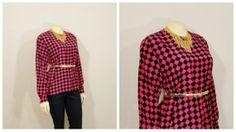 Vintage Blouse 80s Pink & Black by 2sweet4wordsVintage on Etsy, $39.99